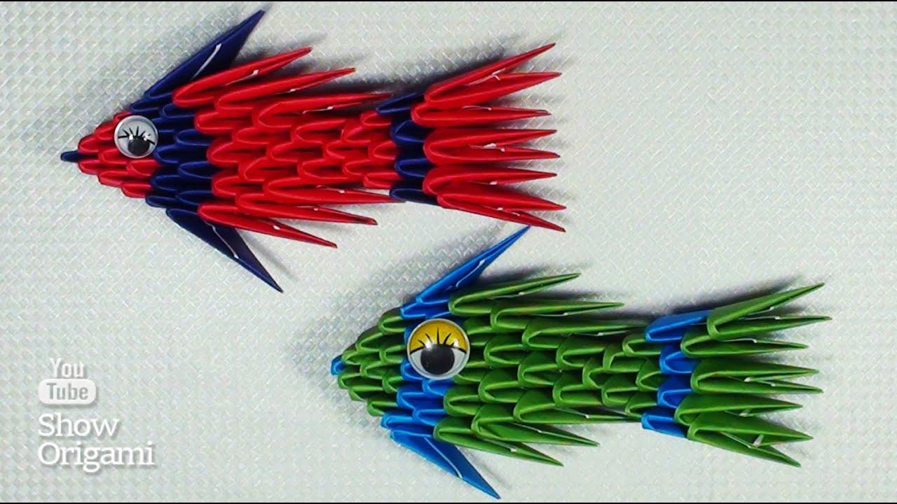 Поделки из модулей рыба
