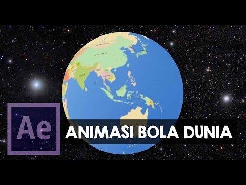 After Effect Indonesia: Membuat Bola Dunia / Globe