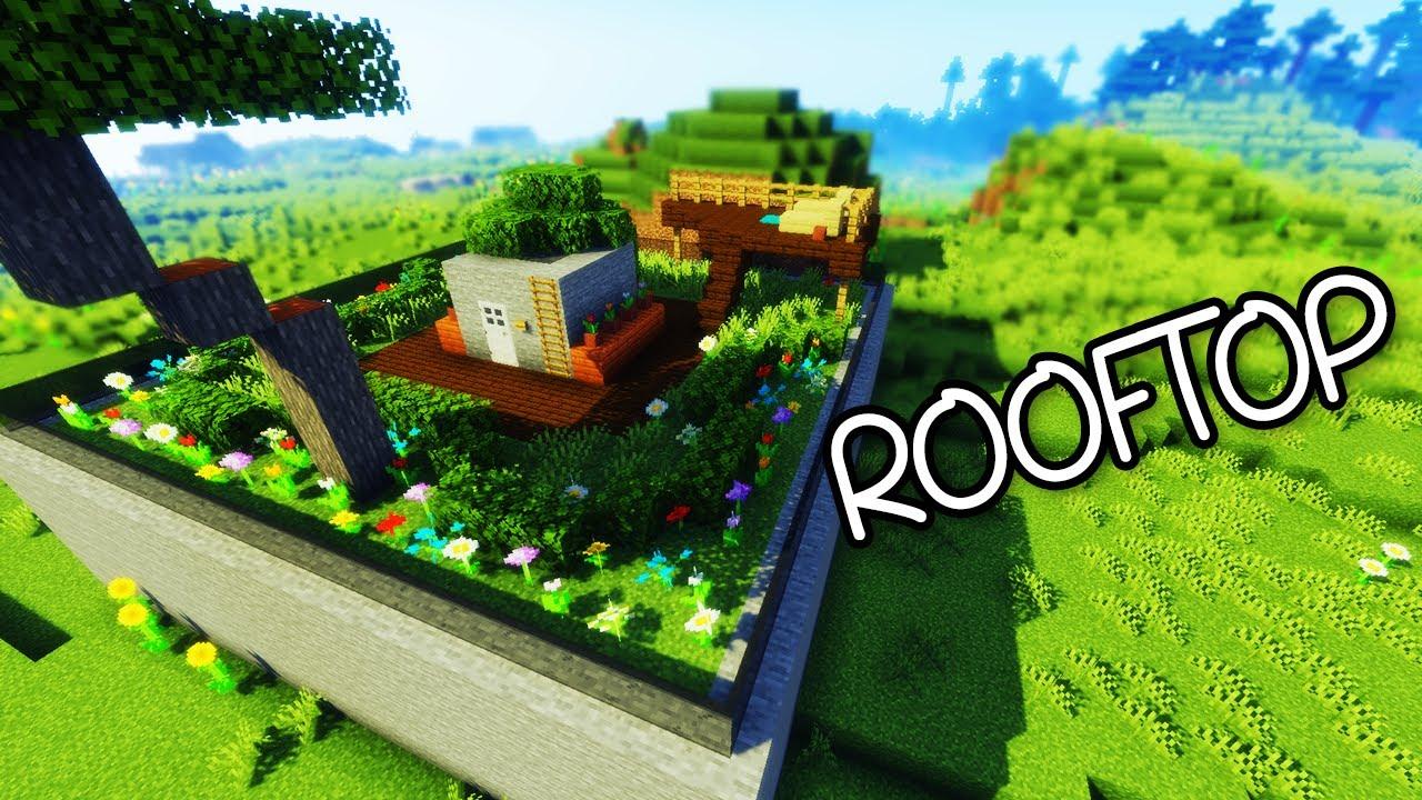 ☯ Minecraft - Gardening 101 - Rooftop Garden - Tutorial #3 ...