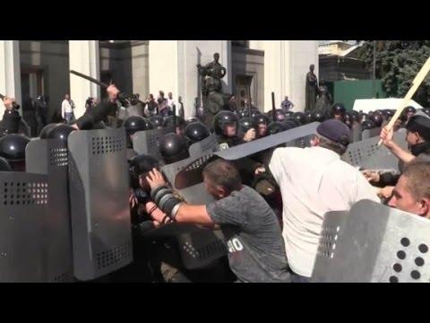 Violent protests erupt in Ukraine