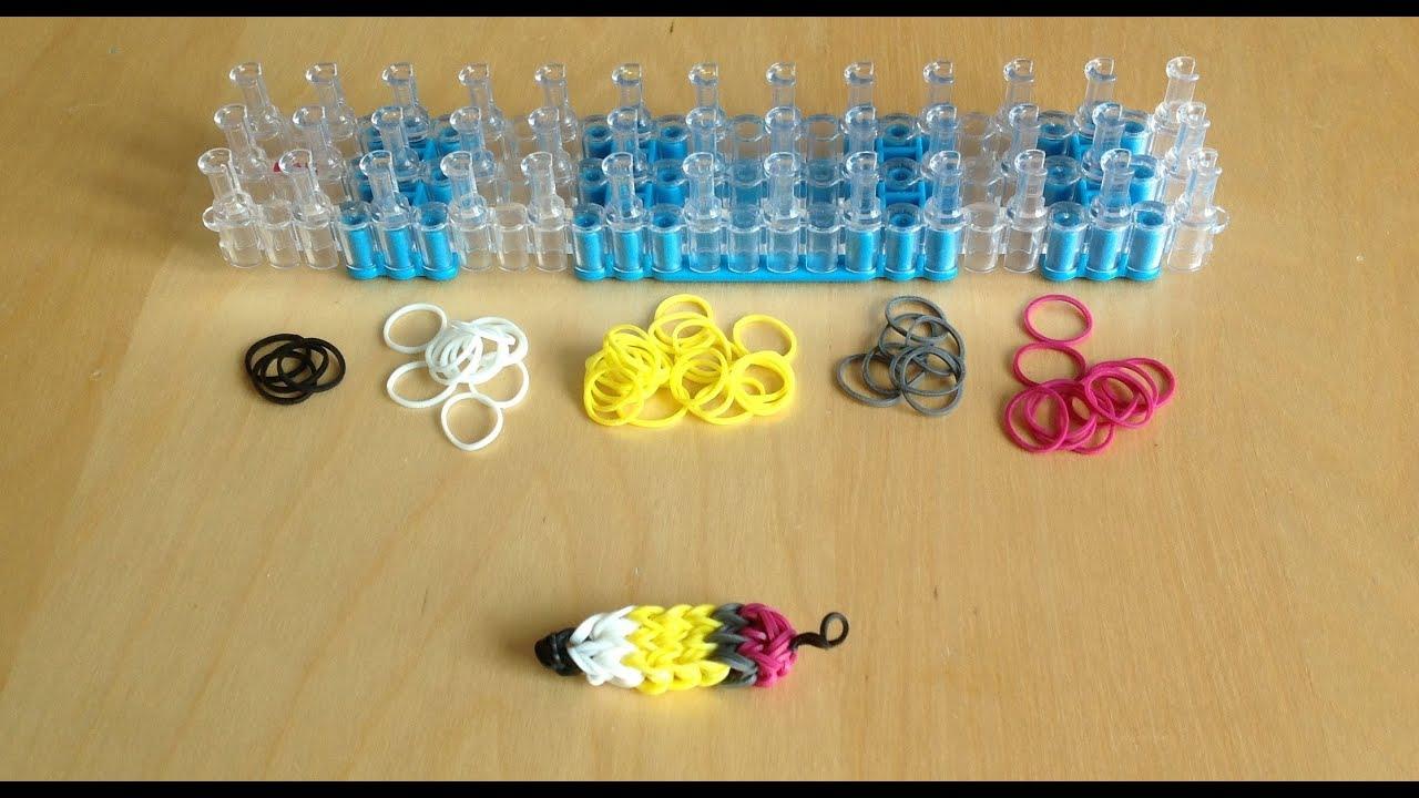 Cr er un porte clefs rainbow loom youtube - Comment faire un porte bracelet ...