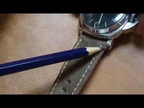 Jason Liang hand stitched watch strap for a Panerai 372