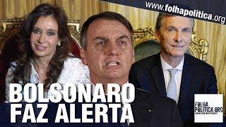Presidente Bolsonaro faz alerta sobre a Argentina e relata que conversou sobre a Venezuela com Bush