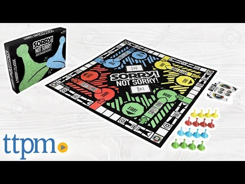 Sorry! Not Sorry! Adult Board Game from Hasbro