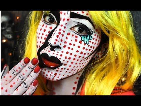 Pop Art Girl Halloween Makeup Tutorial
