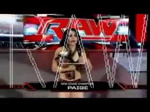 Paige vs AJ Lee WWE Divas Title Match post wrestlemania Raw Segment 21