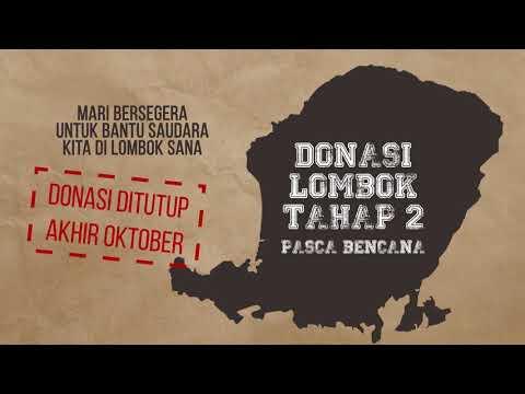 YTS Peduli : Donasi Lombok Tahap 2 - Pasca Bencana