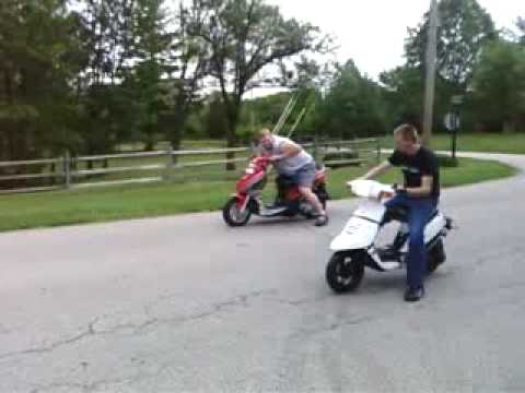 150cc Drag Scooter Scooter vs 150cc Scooter
