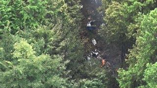 プロペラ機墜落 2人死亡