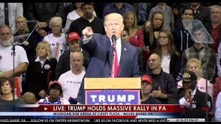 Trump Asks the Cameras to Show the Crowd in Wilkes-Barre, ONLY Ours MOVE