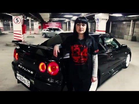 Russian Girls DRIFT девушки за рулем на Nissan R34 и Nissan R32