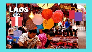 LAOS, the delightful NIGHT MARKET of the royal city of LUANG PRABANG