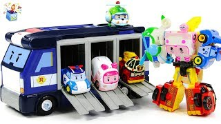 Learning Color Disney Cars Lightning McQueen and robocar poli Transforming play for kids