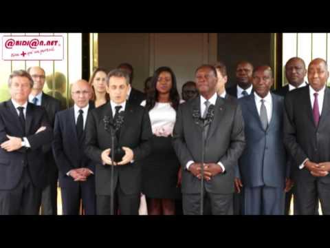 L'ancien Président français Nicolas Sarkozy reçu en audience par Alassane Ouattara