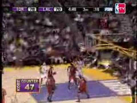 Kobe Bryant's historic 81pt. game against the Raptors on Jan.22,2006.