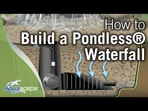 How To Build A Pondless 174 Waterfall Aquascape Youtube