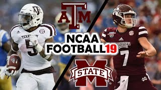 Texas A&M @ Mississippi State - 10-27-18 NCAA Football 19 Simulation (UPDATED ROSTERS for 2018)