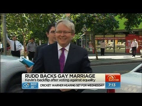 Sunrise - Rudd declares support for gay marriage