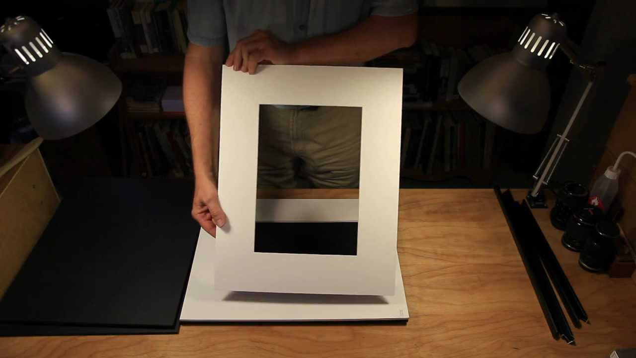 Framing A Print For Gallery Display Youtube