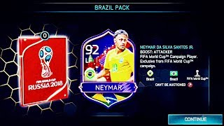 I GOT 92 HERO NEYMAR - Biggest Brazil Packs opening in fifa mobile - Gameplay Review World Cup