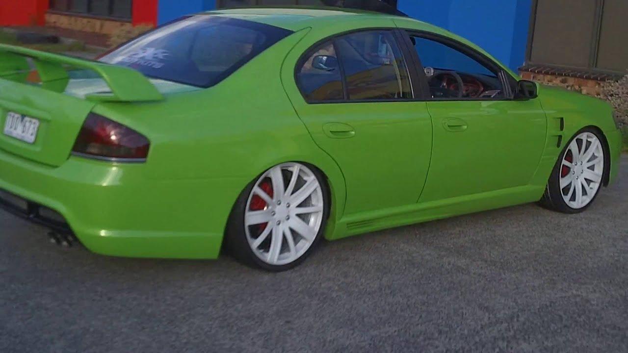 Sexy Ba Ford Falcon Green Bodykitsscoopspoilerstripes