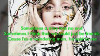 Lady Gaga - Gypsy (Lyrics Audio)