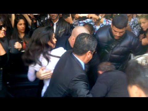 MUST SEE - CRAZY- Kim Kardashian screaming as she gets crushed by Vitalii Sediuk in Paris