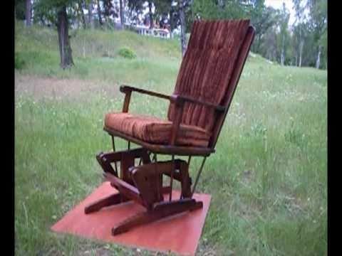 Сделать кресло-качалку своими руками видео