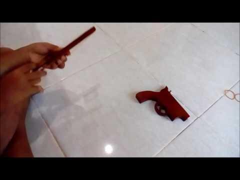 Mainan Tradisional Pistol Karet Gelang Klasik Part 1
