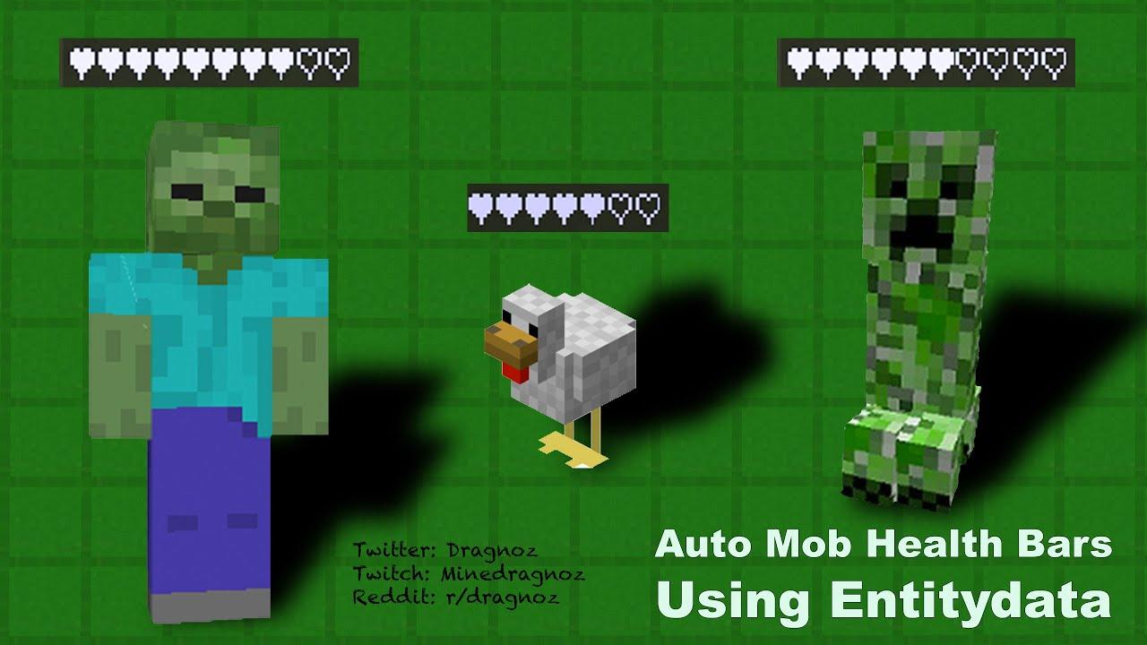 Health Bars Minecraft Automatic Mob Health Bar Using