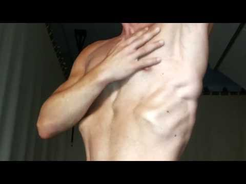 Shirtless Muscle Flexing After Tanning :-) video