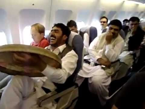 Pashtun In Aeroplane With Angrez singing on darya beats. FUNNY
