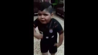 Chubby kid funny dance on Arabic song