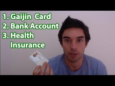 Before you work in Japan! Gaijin Card, Bank account, Health insurance