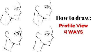 How to: Draw 1/2 View (SIDE VIEW)