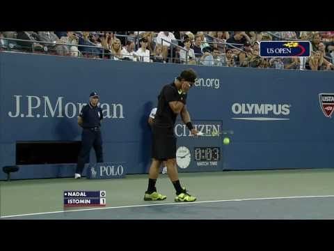 Rafael Nadal vs Denis Istomin R2 US Open 2010 [HD 720p]