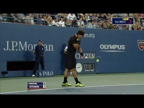 Rafael Nadal vs Denis Istomin R2 US Open 2010 [HD 720p]