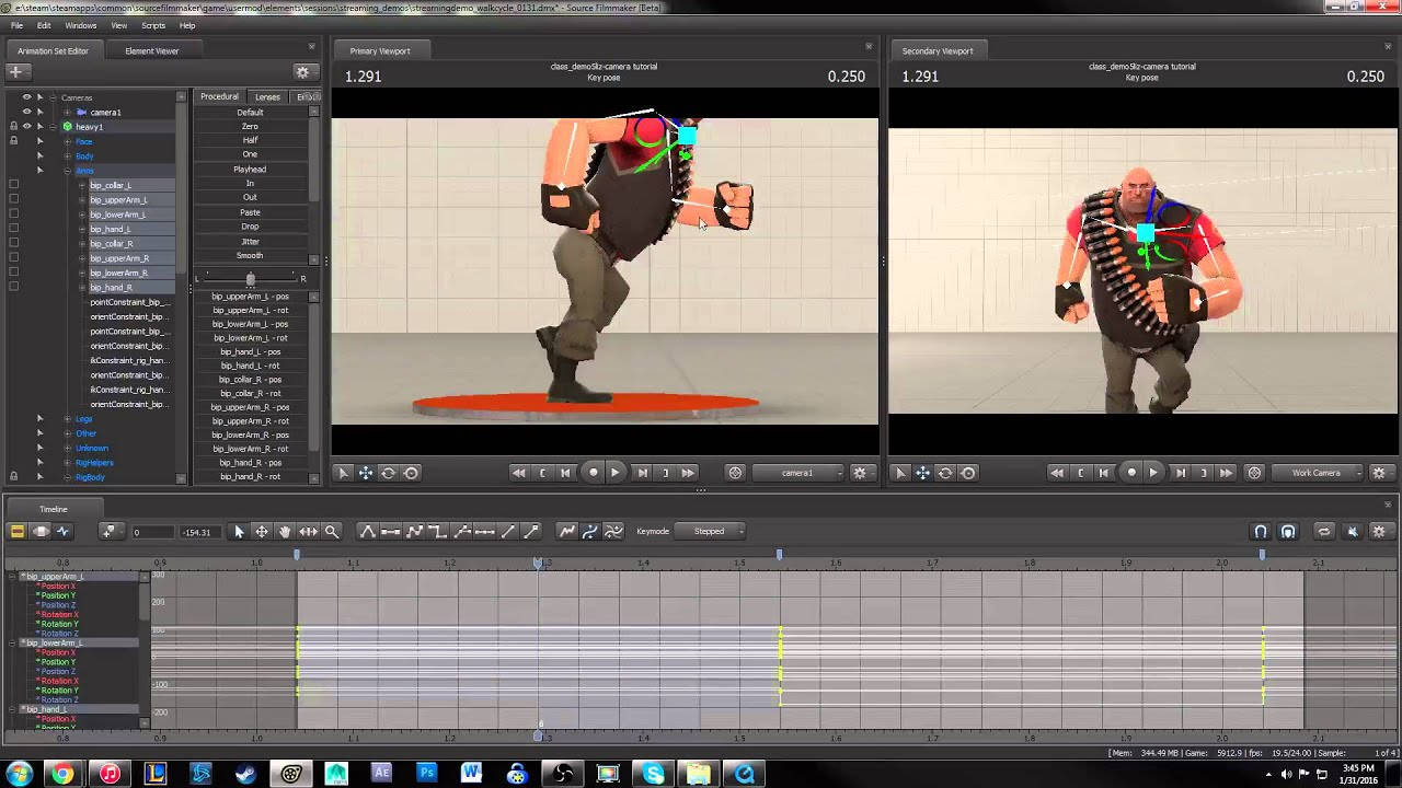 Source Filmmaker animation session - Blocking!