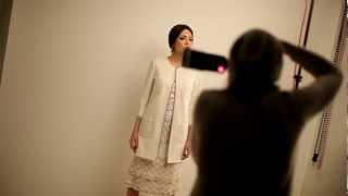 The Making of Black and White SS2013 fashion editorial in Moi Ostrov