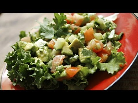 Tomato Cucumber Avocado Salad – Healthy Vegan Recipes On Video