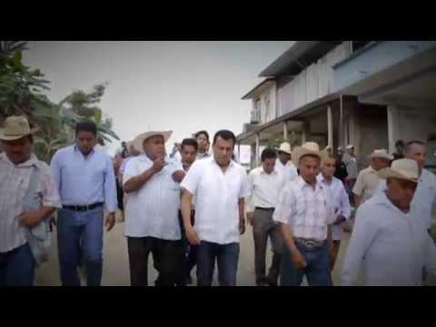 Samuel Gurrión anuncia 3 mdp en infraestructura social para Bethania, Tuxtepec , marzo 2015