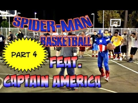 Spiderman Plays Basketball Part 4... feat Captain America Winter Soldier