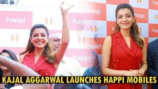 Kajal Aggarwal Launches HAPPI Mobiles Store In Hanamkonda | Interacting With Media @ Happi Mobiles
