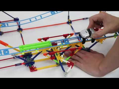 K'NEX Crossfire Chaos Roller Coaster Building Set   YouTube