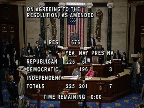 A sharply divided House approved a Republican plan Wednesday to launch a campaign-season lawsuit against President Barack Obama, accusing him of exceeding the bounds of his constitutional authority. (July 30)  Subscribe for more Breaking News: http://smarturl.it/AssociatedPress