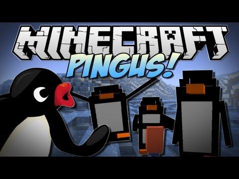 Minecraft   PINGUS! (Penguins that Mine. Build & EXPLODE!)   Mod Showcase [1.6.2]