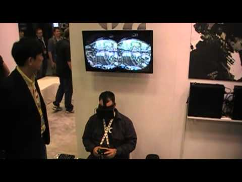 Oculus Rift developer kit hands-on at GDC 2013, shown playing Hawken