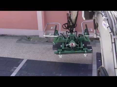 HUNKLINGER Pflastergreif, VS5 - paver attachment for interlocks laying
