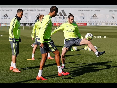 Gareth Bale scores great goal on return to training