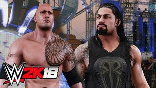 WWE 2K18 - Roman Reigns Vs The Rock FULL MATCH!